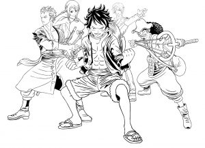Coloriage enfant manga one piece 18