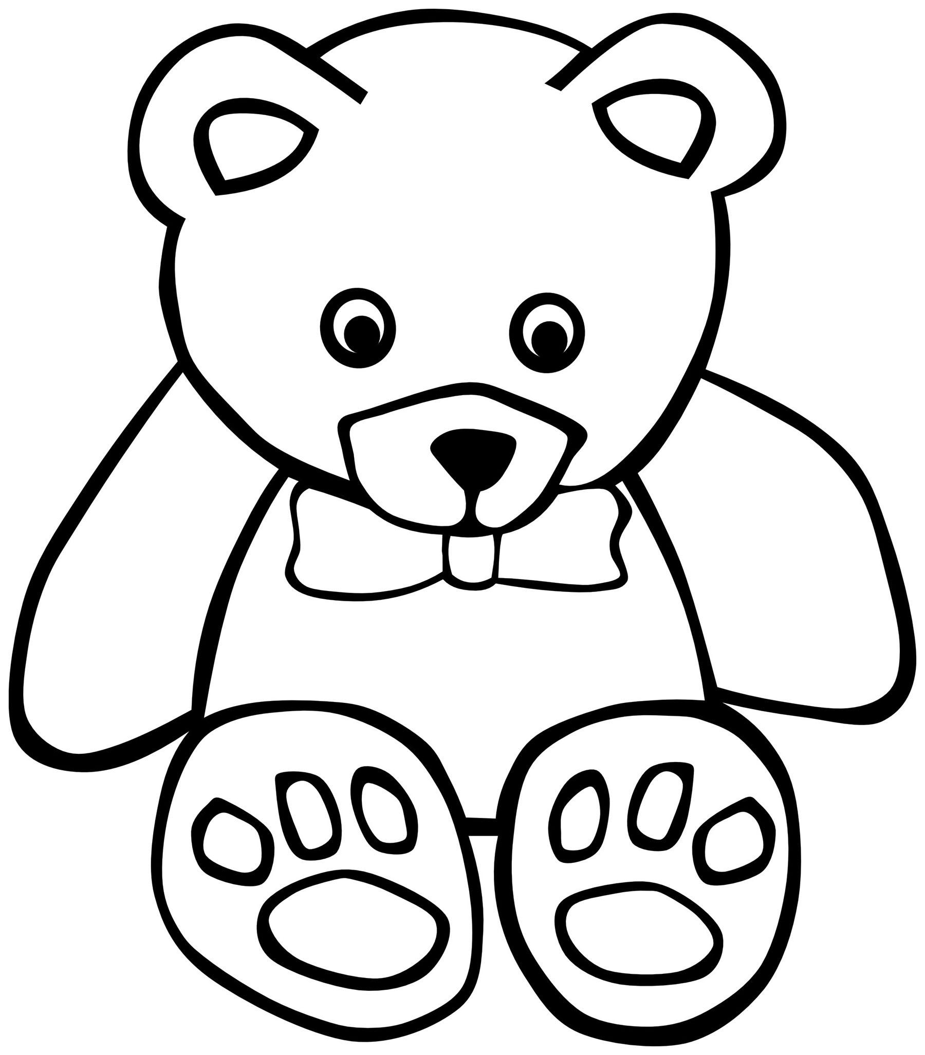 Petit ours - Coloriage d'Oursons - Coloriages pour enfants