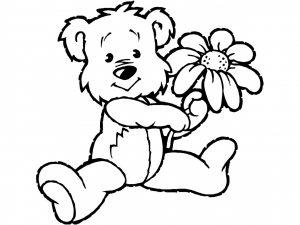 Ourson et sa fleur