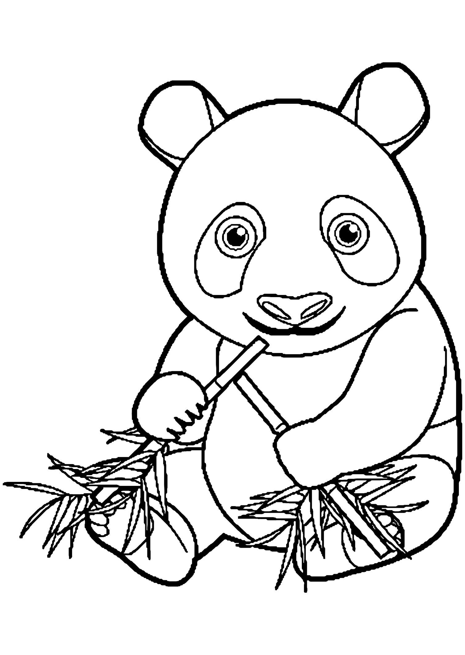 Coloriage Panda 30 Dessins De Imprimer 14795 Tout Panda A Colorier Coloriage De Pandas Coloriages Pour Enfants