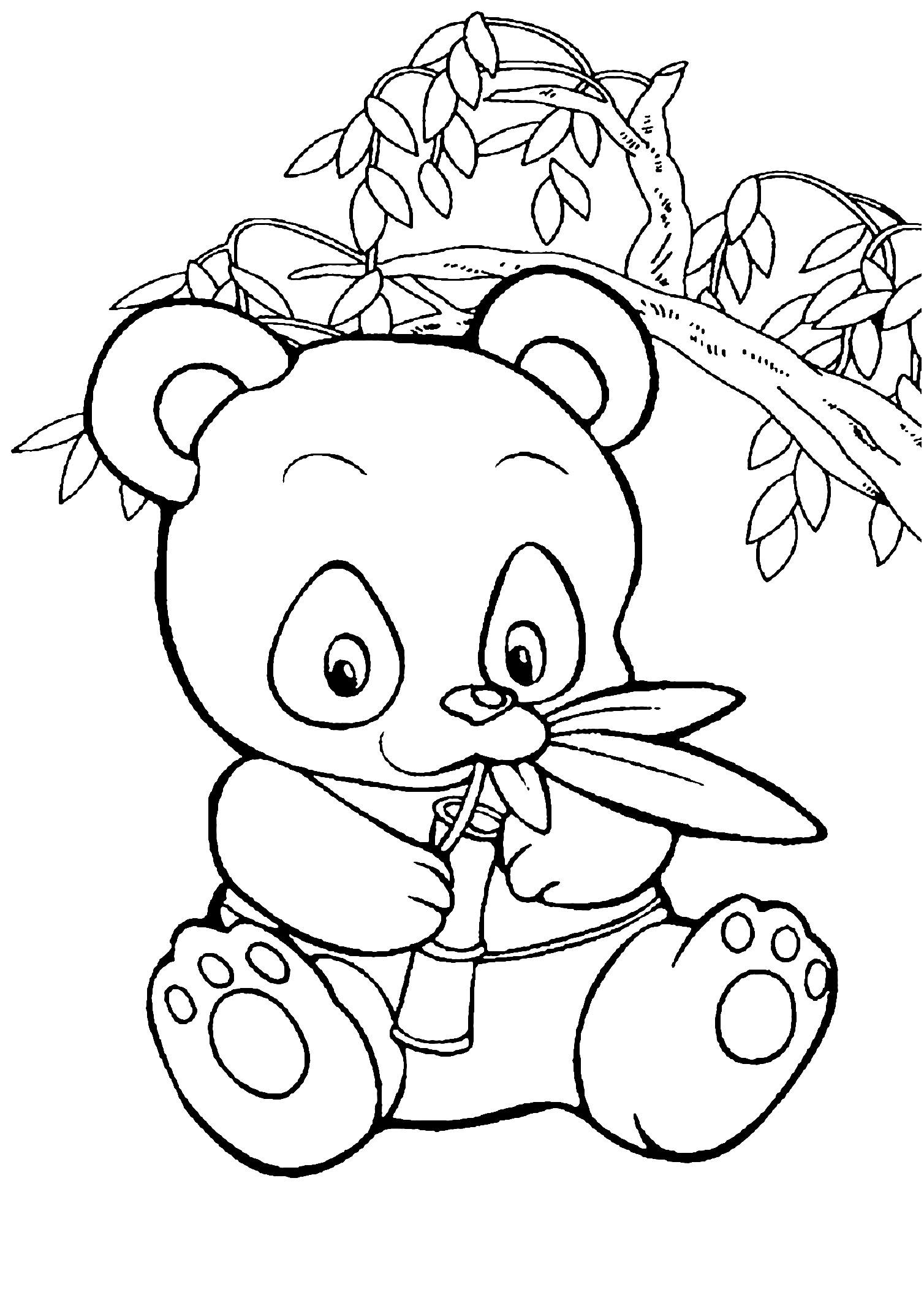 panda à imprimer Unique panda coloring pages for preschool