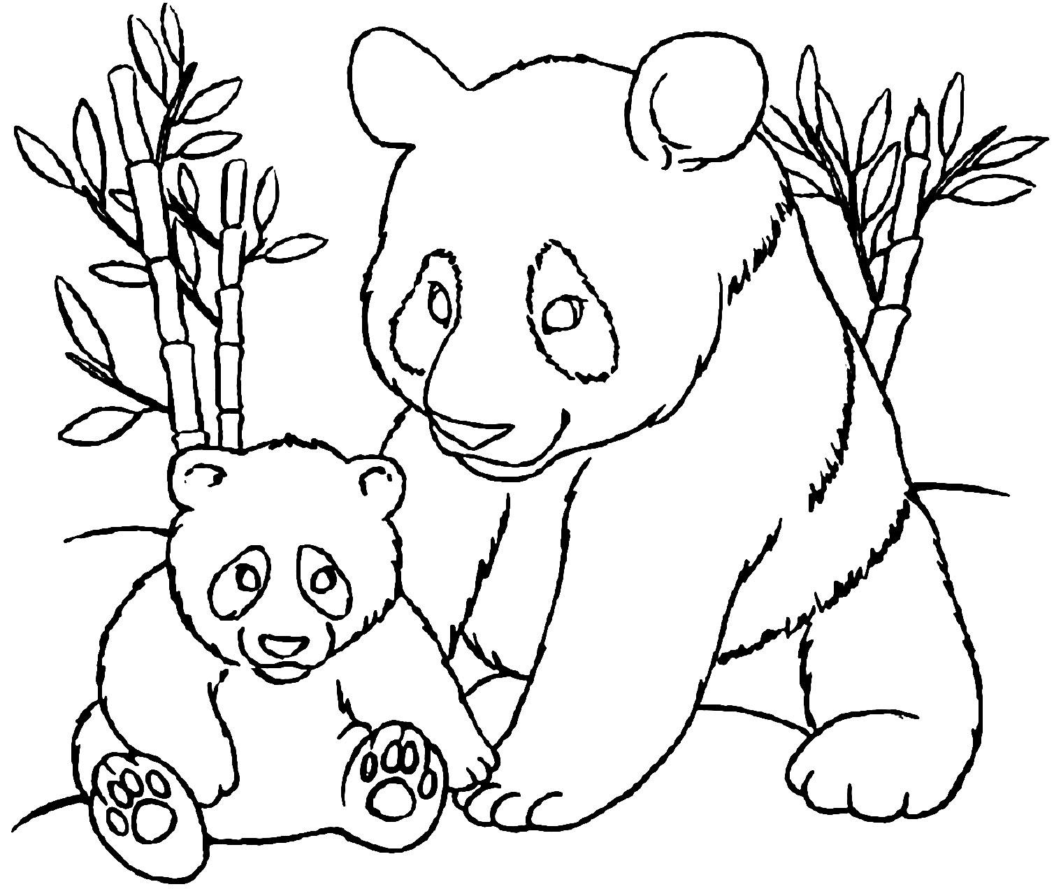 Coloriage De Panda A Imprimer Pour Enfants Coloriage De Pandas Coloriages Pour Enfants