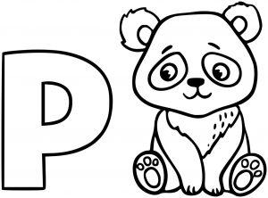 Coloriage de panda pour enfants