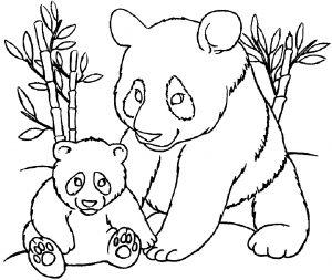 Coloriage de panda à imprimer pour enfants