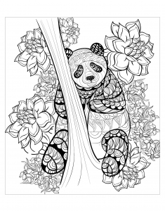Coloriage panda par alfadanz
