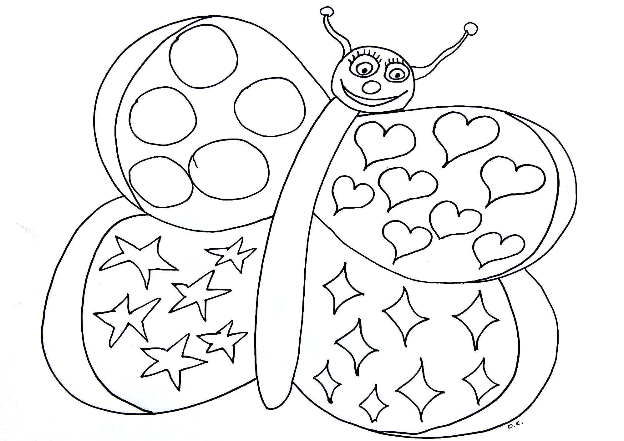 Papillon coeurs coloriage de papillons coloriages pour - Imprimer dessin enfant ...
