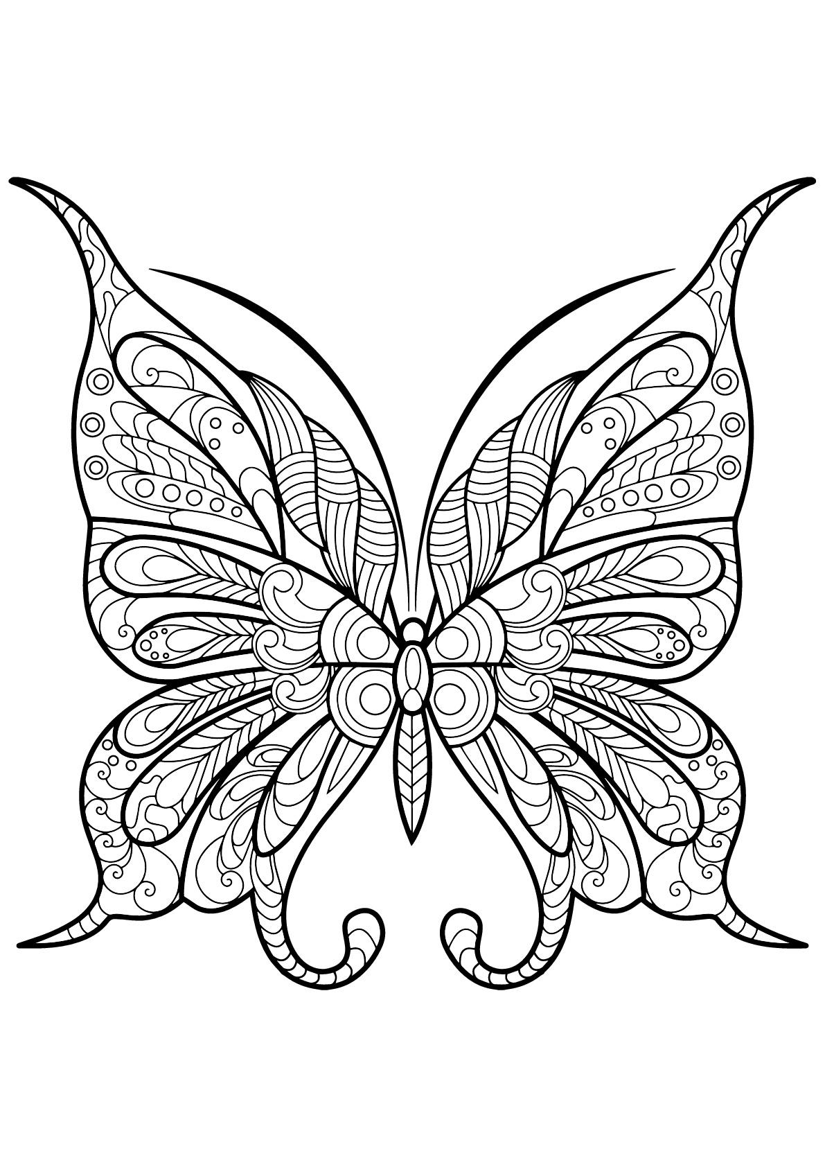Coloriage De Papillons A Imprimer Gratuitement Coloriage De Papillons Coloriages Pour Enfants