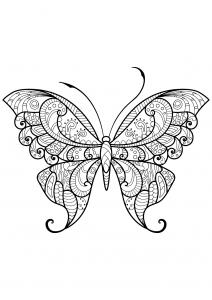 Dessin de Papillons gratuit à imprimer et colorier