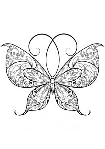 coloriage papillon motifs 13