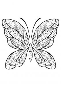 Image de Papillons à imprimer et colorier