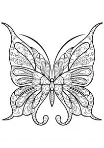 Coloriage de Papillons à imprimer gratuitement