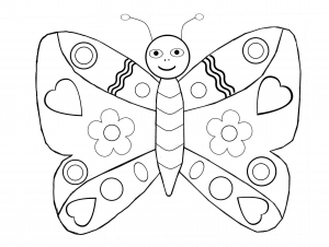 coloriage-papillons-4 free to print
