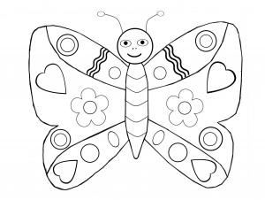 coloriage papillons 4