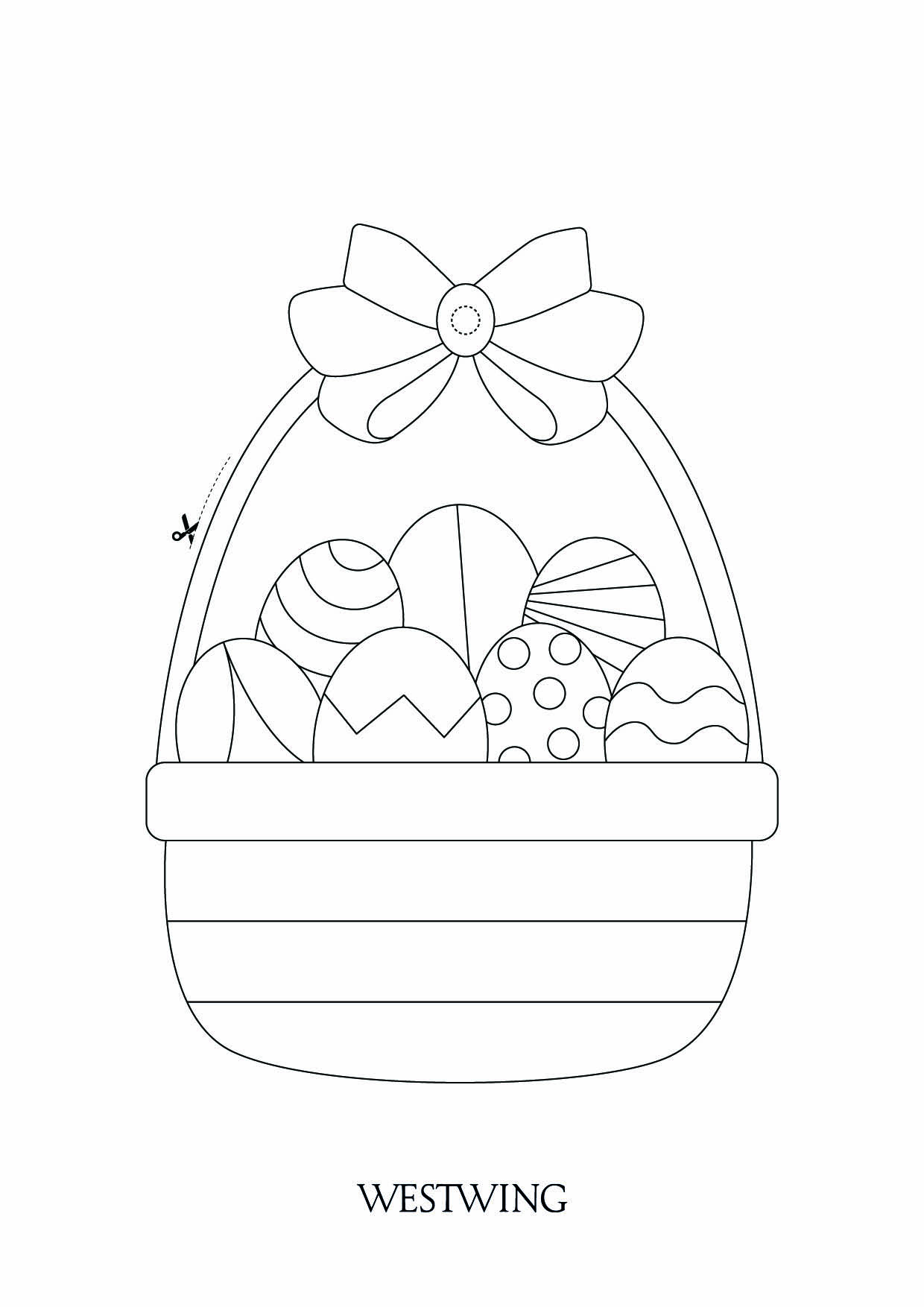 Coloriage de Pâques à imprimer pour enfants