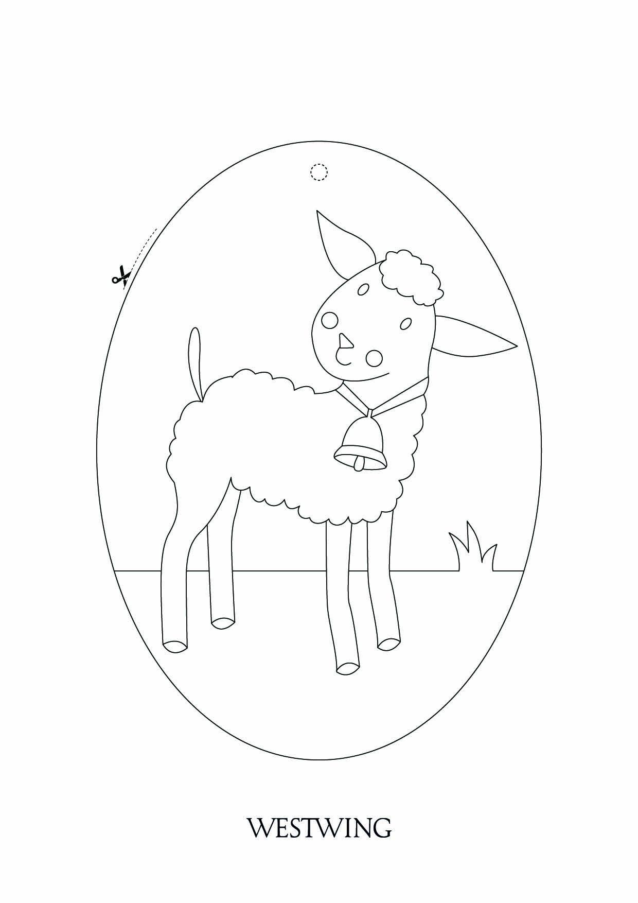Dessin de Pâques à télécharger et imprimer pour enfants