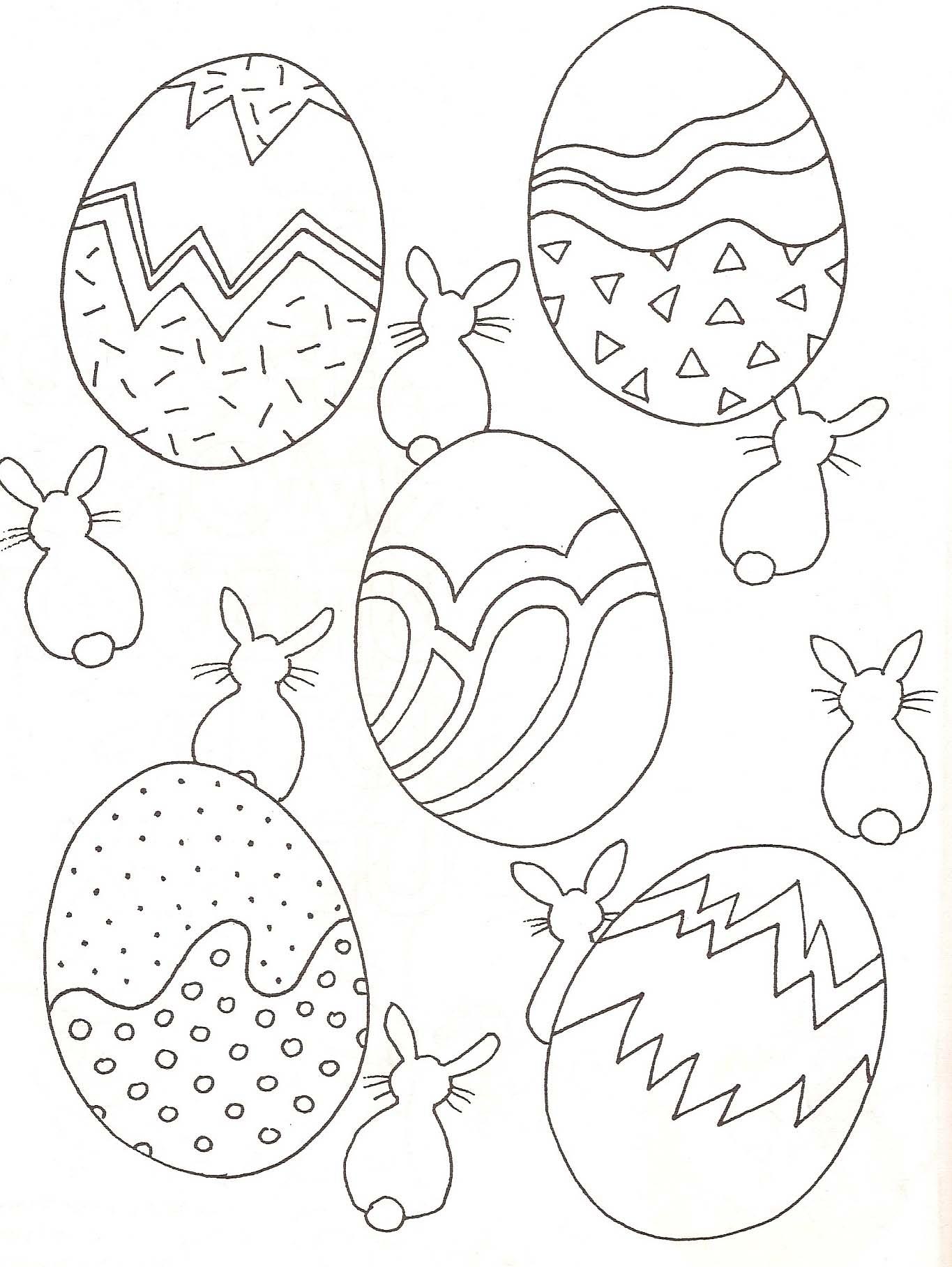 Encore un joli dessin d'oeufs de Pâques