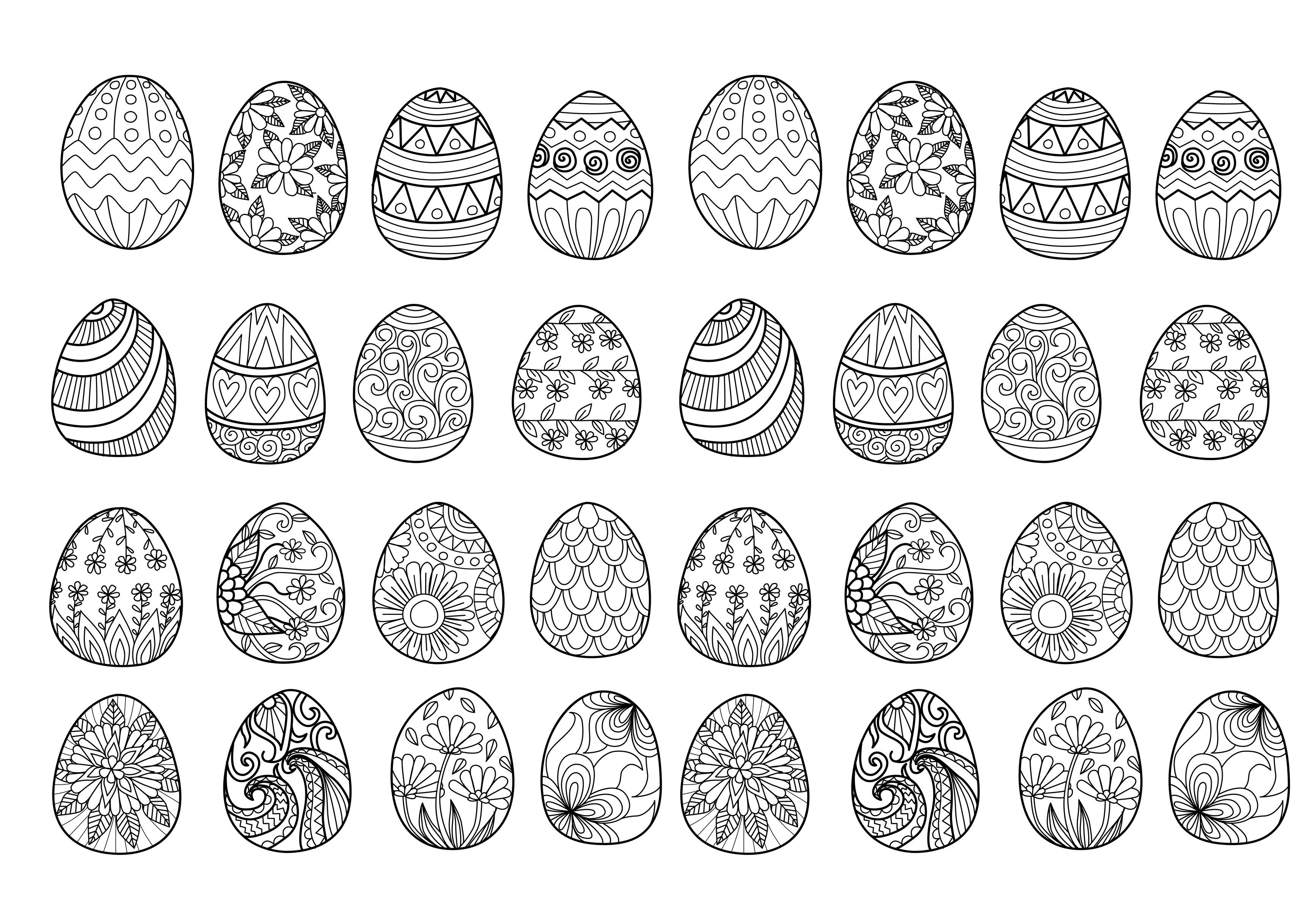 49153947   easter eggs for coloring book
