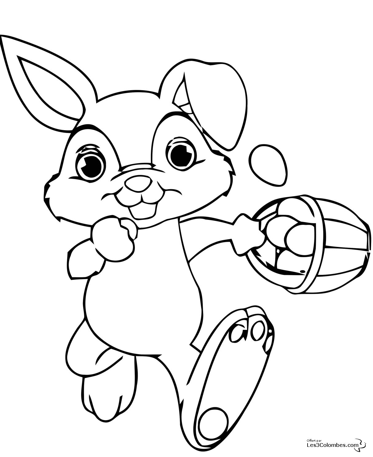 coloriage de p ques oeufs de p ques lapins cloches coloriages pour enfants coloriage. Black Bedroom Furniture Sets. Home Design Ideas