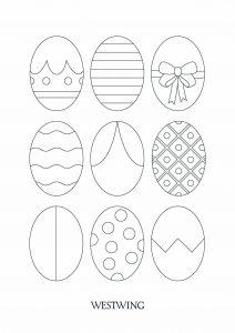 Coloriage de Pâques gratuit à colorier
