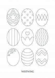 Coloriage de Pâques à telecharger gratuitement