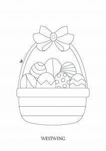 Dessin de Pâques gratuit à imprimer et colorier
