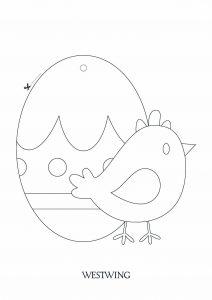 Dessin de Pâques gratuit à télécharger et colorier