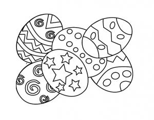 Coloriage oeuf de paques 3