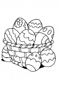 Dessin de Pâque gratuit à imprimer et colorier