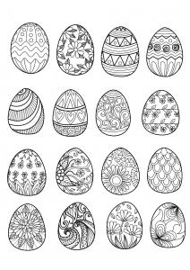 16 oeufs de Pâques