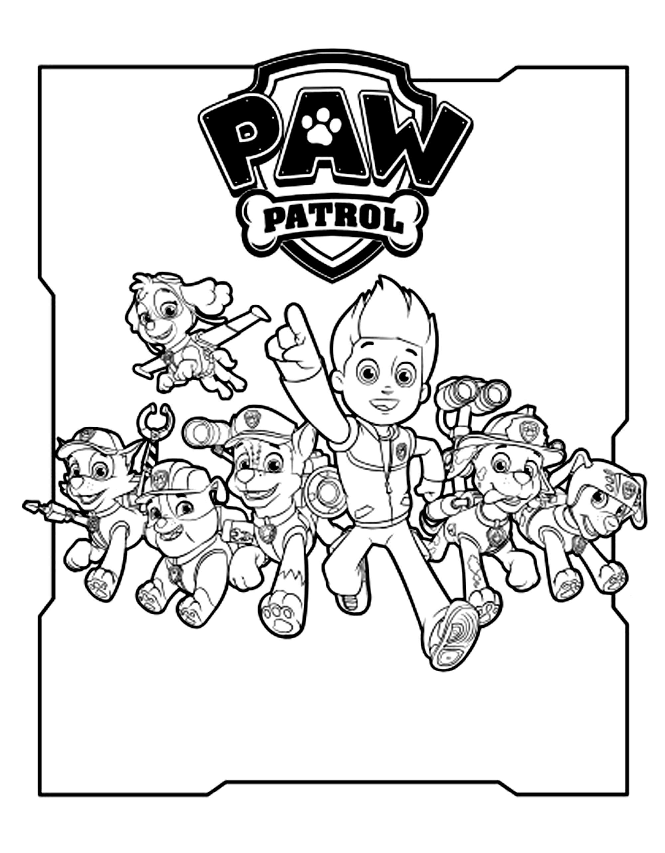 Coloriage Pat Patrouille Coloriages Pour Enfants