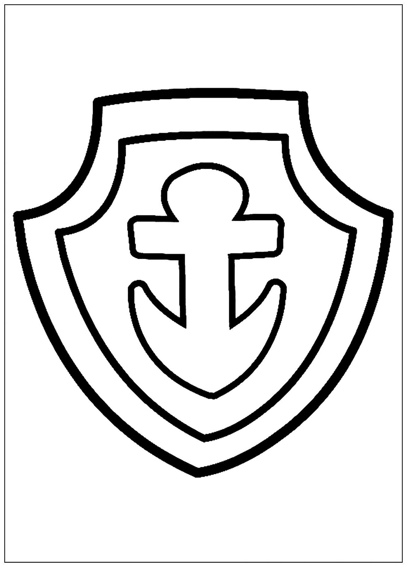 Pat patrouille ecusson coloriage pat patrouille coloriages pour enfants - Coloriage ecusson ...