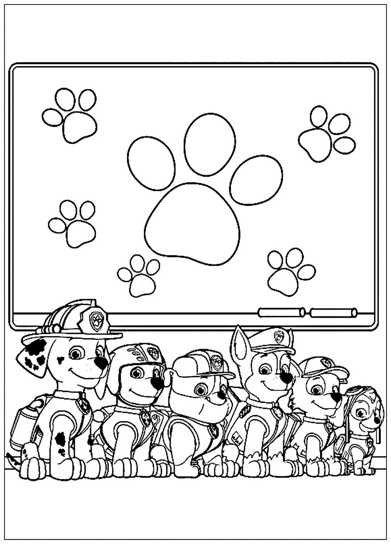Coloriage Ecusson Pat Patrouille.Coloriage Pat Patrouille Coloriages Pour Enfants Page 2
