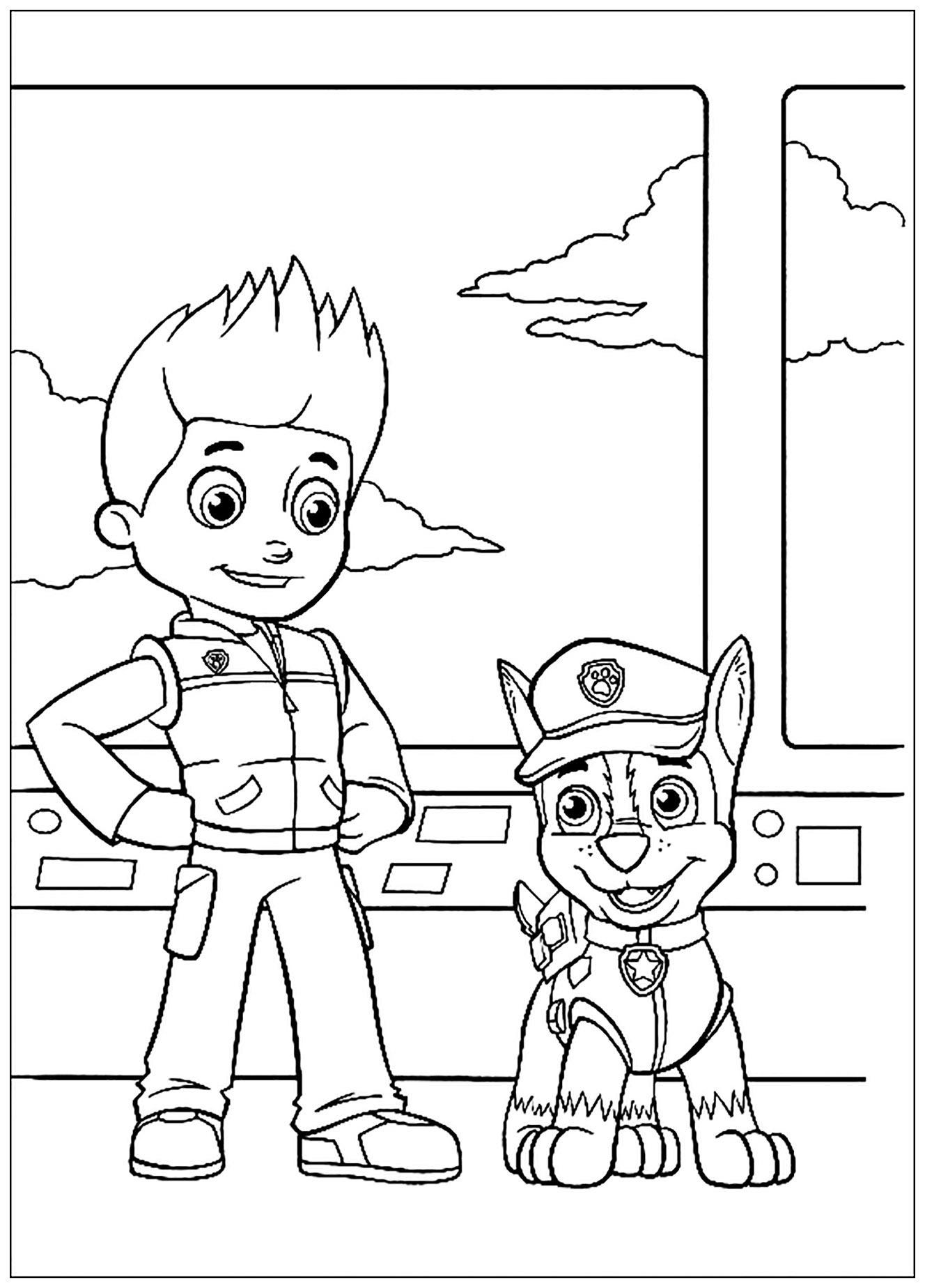 Pat patrouille le meilleur ami de l homme coloriage pat - Enfants coloriage ...