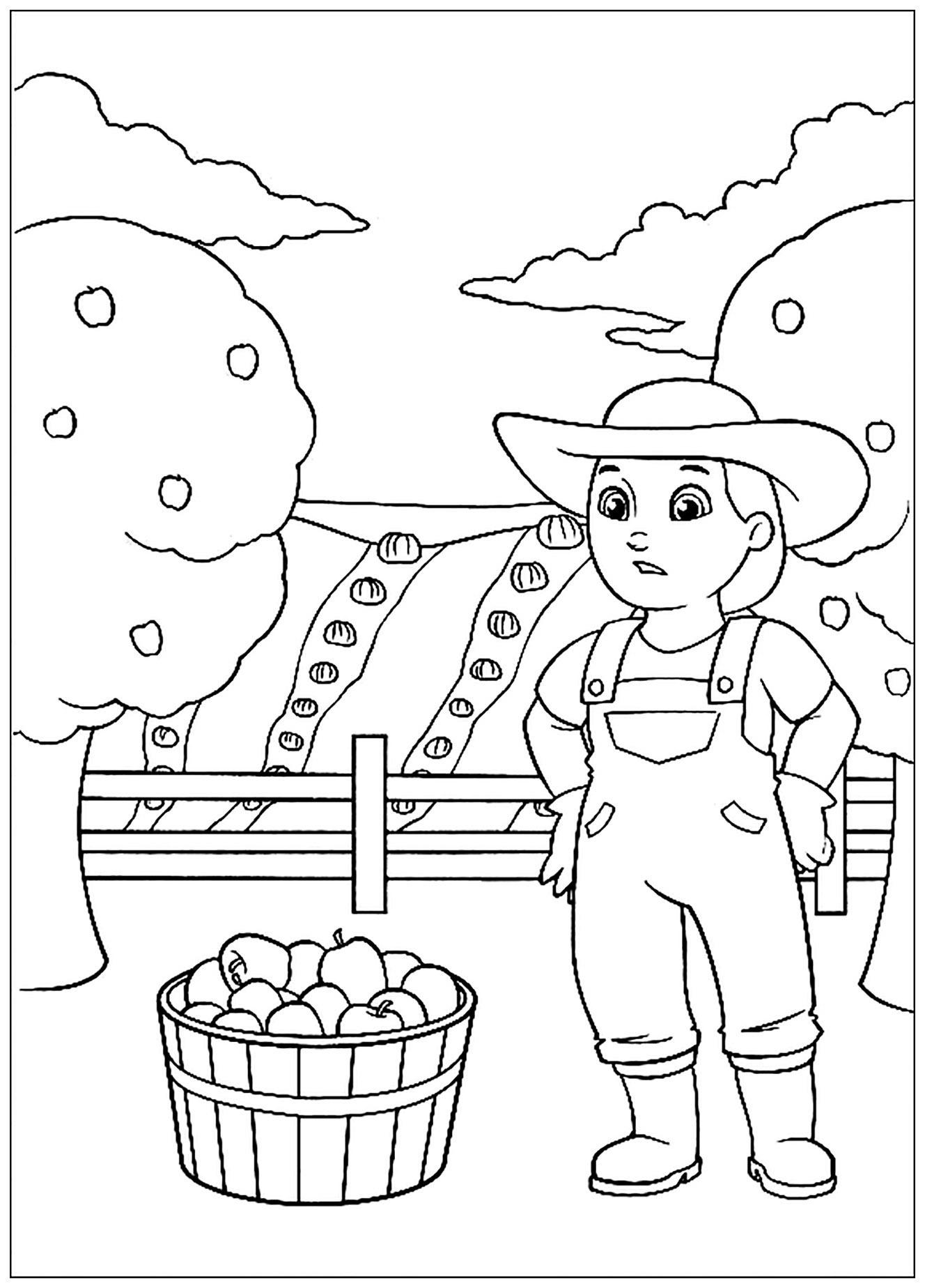 Pat patrouille le plein de pommes coloriage pat - Dessin pomme a colorier ...