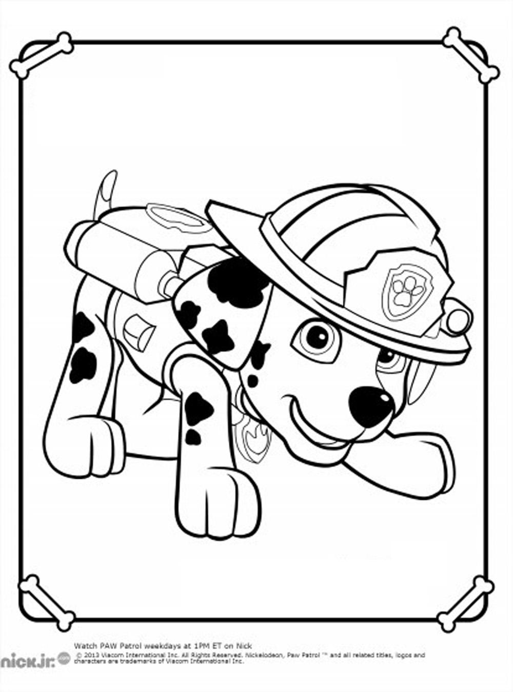 Image du dalmatien Marcus (Marshall) à imprimer et colorier