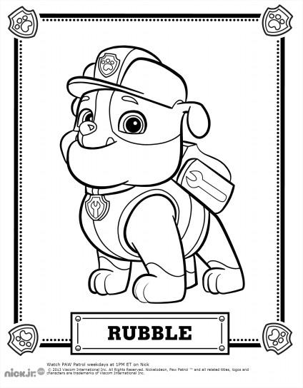 Ruben (Rubble) à colorier