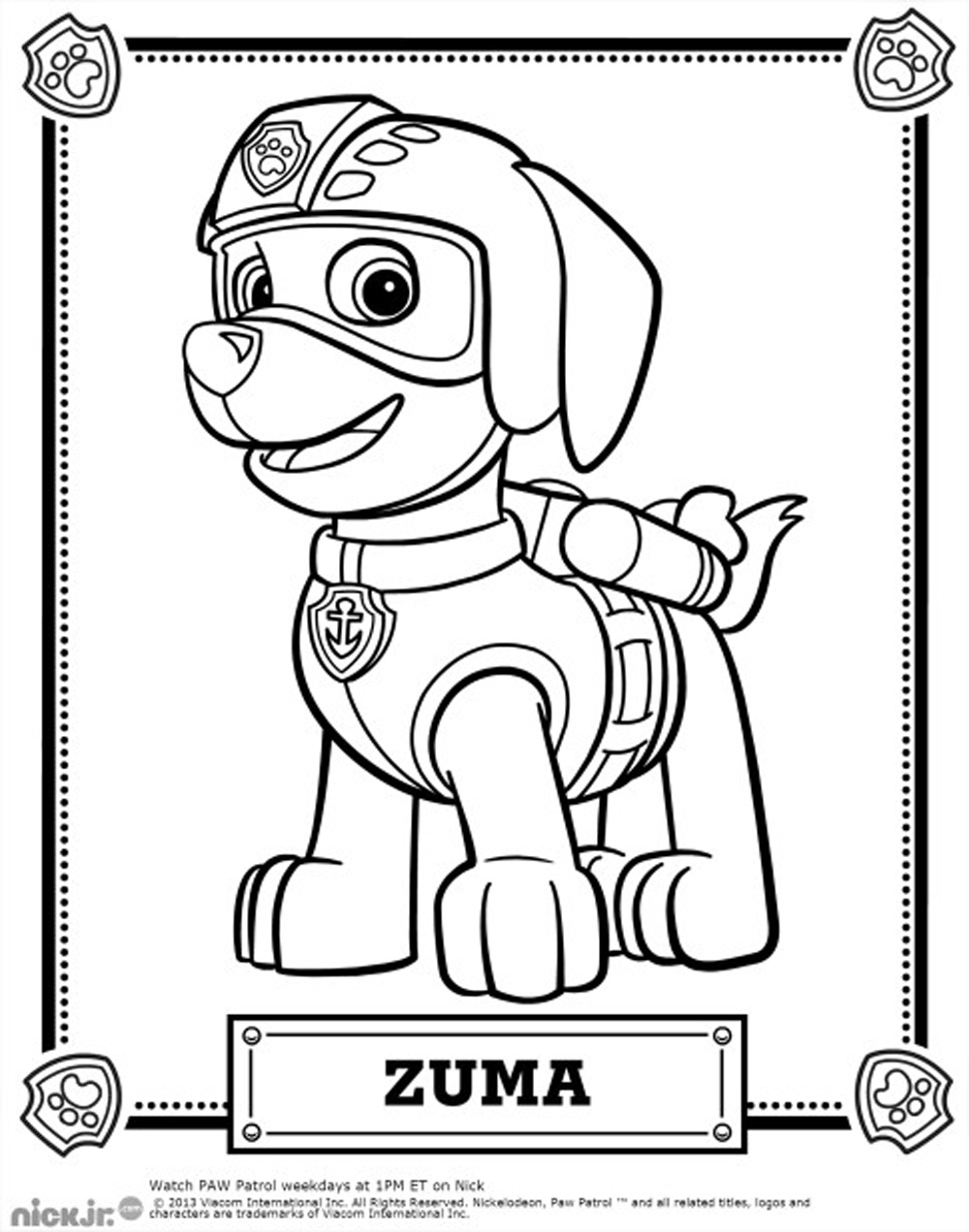 Coloriage de Zuma