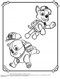 Coloriage de Pat Patrouille gratuit à colorier