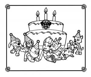 Dessin de Pat Patrouille gratuit à télécharger et colorier