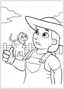 Pat Patrouille : Fermière et vache