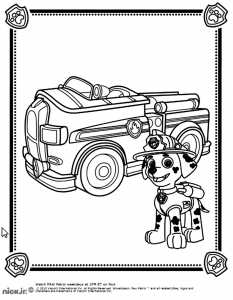 coloriage-pat-patrouille-marshall-camion free to print