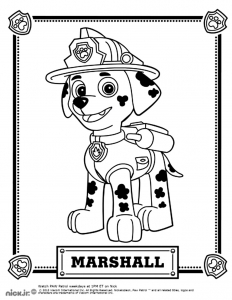 coloriage-pat-patrouille-marshall free to print
