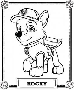 Coloriage de Pat Patrouille à colorier pour enfants
