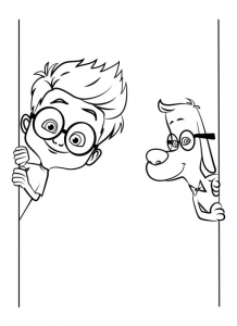 Coloriage mr peabody sherman 10