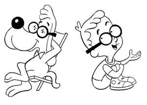 coloriage peabody sherman cartoon