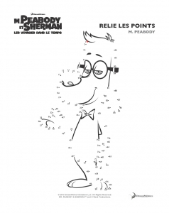 Coloriage peabody sherman points 1