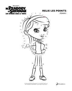 Coloriage peabody sherman points 3