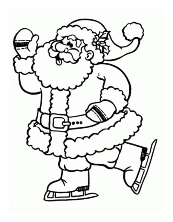 Pere noel 3 coloriage p re no l coloriages pour enfants - Image pere noel a colorier ...