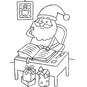 coloriage-pere-noel-12 free to print