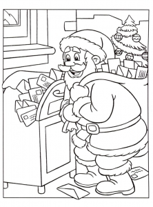 coloriage-pere-noel-2 free to print